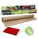 COOKINA Cuisine Reusable Baking Mat – 100% Non-Stick, Easy to Clean Cooking Sheet for Gas, Electric, Toaster and Convection Ovens, Beige