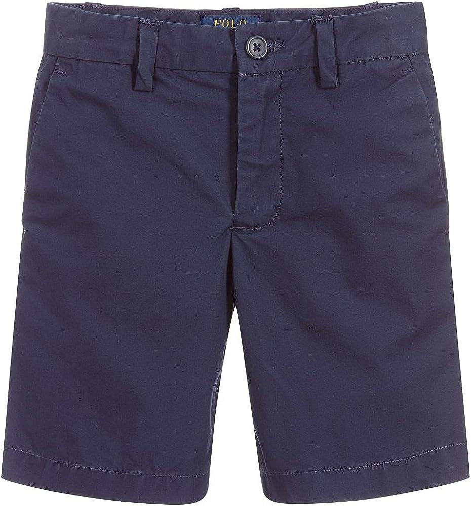 Ralph Lauren Navy Boys' Flat Front Chino Shorts, US 24M