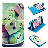 iPhone 7 Case,iPhone 7 Leather Wallet Case,Maoerdo [Marshmallow] Built-in Card Slots Folio Flip Kickstand Feature Magnetic PU Leather Wallet Case Cover for Apple iPhone 7