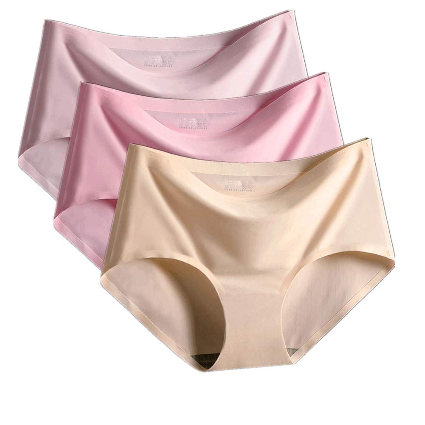 カエル援助する避難するシームレスショーツ レディース パンツ 下着 肌に優しい パンティ 無縫製 レギュラー 通気性【4枚セット/3枚セット】