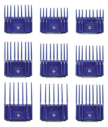 Andis Plastic Blade Comb Sets, 9 Pieces, Small 7
