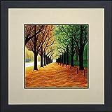 King Silk Art 100% Handmade Embroidery Autumn...