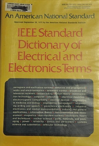 IEEE standard dictionary of electrical and electronics terms