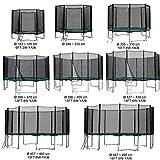 Baunsal GmbH & Co.KG Gartentrampolin Kindertrampolin Trampolin 366 bis 370 cm grün komplettes Set...