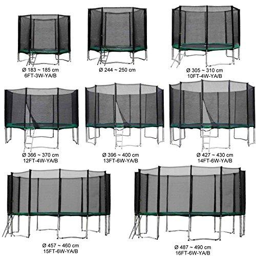 Baunsal GmbH & Co.KG Gartentrampolin Kindertrampolin Trampolin 244 bis 250 cm grün komplettes Set mit Sicherheitsnetz und Einstiegsleiter …