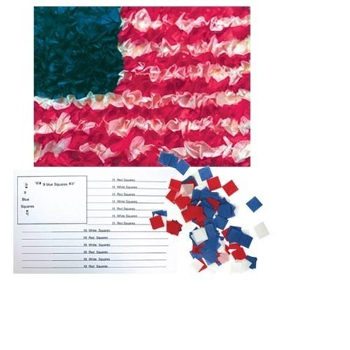 """Hygloss American Flag Craft Tissue Paper Kit - DIY US Flag Decorations - 5.5"""" x 8.5"""" Inches - 10..."""