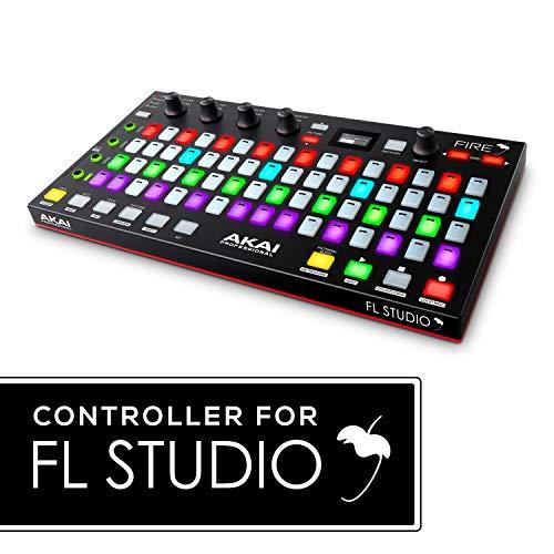 Akai Professional Fire (ausschließlich Controller) - USB MIDI Controller für FL Studio mit 64-Pad-RGB-Clip und Drum Pad Matrix