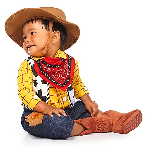 Toy Story 4 Sheriff Woody Boys Girls Baby Toddler Long Sleeve T-Shirt Tee (2T, Blue/Yellow)