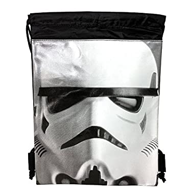 Disney Star Wars Authentic Drawstring Backpack Sling Sport Gym Bag (Storm Trooper)