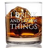 Vaso de whisky con texto 'I Drink and I Know Things', de 11 onzas,...