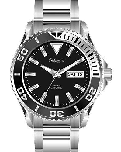 Di Riempimento Müller in acciaio inox orologio da uomo orologio orologio con data e visualizzazione settimanale giorno 20 ATM