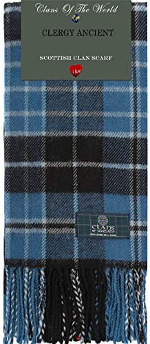 I Luv Ltd Clergy Ancient Tartan Clan Scarf 100% Soft Lambswool