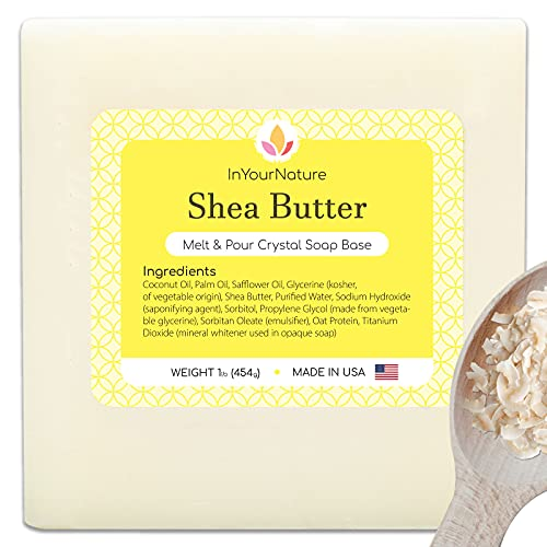 InYourNature Shea Butter Soap Base Melt and Pour for Soap Making 2 LB, Organic...