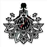 Reloj de yoga de vinilo discográfico reloj de pared estilo retro...