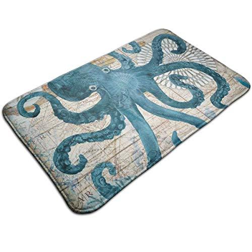 PJDZRNYO Octopus Welcome Door Mat Indoor Outdoor Entrance Rug Floor Mats Shoe Scraper Mat for Kitchen Bathroom Floors Carpet 19.5x31.5 Inch
