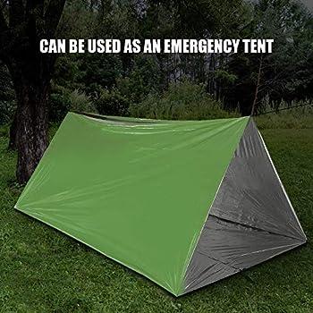 Irfora Couverture d'urgence portable - Sac de survie léger avec cordon de serrage - Pour camping, randonnée