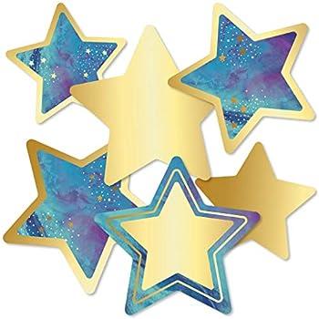 Carson Dellosa – Galaxy Stars Colorful Cut-Outs Classroom Décor 36 Pieces