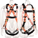 WELKFORDER 3 D-Ring Industrial Fall Protection Safety Harness with Detachable Shoulder Paddings CSA