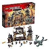 LEGO- Ninjago Includes Master, Jay, Zane, Cole, Kai, Iron Baron, Arkade, Heavy Metal And Chew Toy Minifigures La Fossa del Dragone, Multicolore, 70655