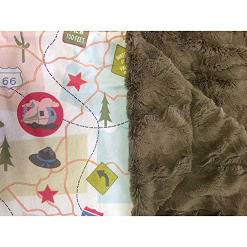 Camp Travel Map Throw Blanket