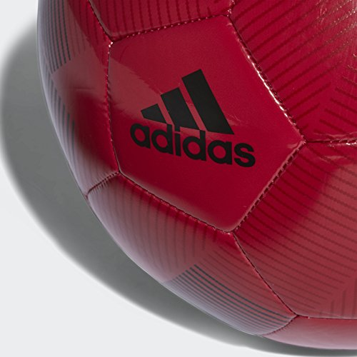 adidas English Premiership Manchester United FC Soccer Ball, Red, 5