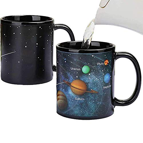 Heat Changing Solar System Magic Coffee Mug Heat Sensitive Porcelain Tea...
