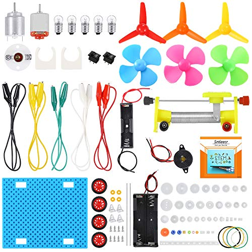 Sntieecr Electric Circuit Learning Kit, Car Model Assemble Physics Science Education Kits Set for...