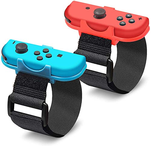 Just Dance 2020 Adjustable Premium Elastic Wrist Straps, Soft Elastic Wrist Bands for Just Dance 2020 Wii/Just Dance 2019/2018/2017/2016 Nintendo Switch Game, Two Size for Adults and Children-2 Pack