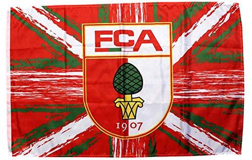 Flagge FC Augsburg - 60 x 90 cm + gratis Aufkleber