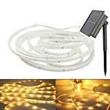 EONANT Solar Luz de Tira, 100LED 16.4ft/5M Impermeable SMD2835 LED Cinta de ánimo Cuerda de Luz para Jardín, Patio, Camino,...