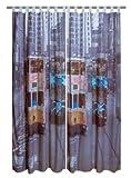 Par DE visillos contemporáneos listos para colgar TRAM A HONG KONG impresión fotográfica-tranvías PHOTOPRINT-Cortina estampada 140 X 240 cm, 2 unidades