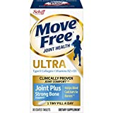 Type-II Collagen, Vitamin K2, Vitamin D3 Tablets, Move Free Ultra Joint Plus Strong Bone Support (30 Count in A Box), Clincically Proven to Deliver Better Joint Comfort That Improves Over Time*,ǂ1