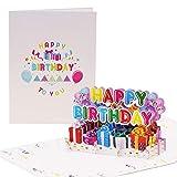 Happy Birthday Biglietto di auguri di compleanno allegro colorato | Pop up biglietto di compleanno con palloncini 3D | biglietto di auguri o buono per il compleanno G24