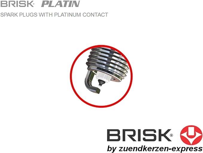 Brisk Platin Qx14yp 1963 Zündkerzen 4 Stück Auto
