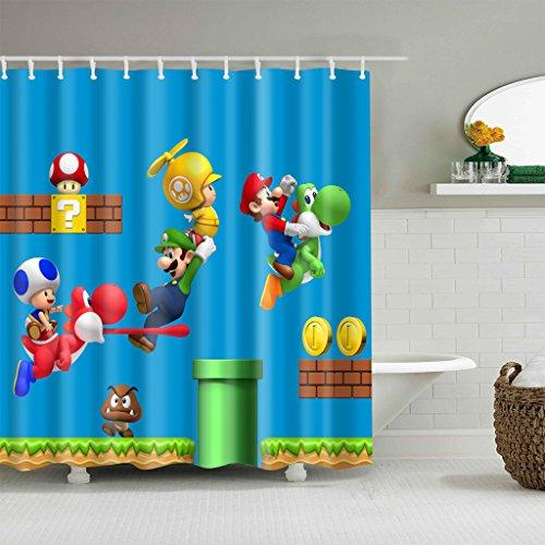 cortinas ducha mario bros