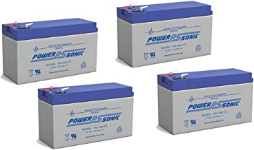 Power-Sonic 12V 9AH Battery Replaces Agri-Alert 800 / 800T Alarm System - 4 Pack