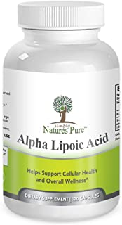 Simply Nature's Pure Alpha Lipoic Acid 600mg 120 veggie capsules RLA R-LA R-Lipoic S-Lipoic HIGHEST Quality ALA, Better Bioavailability also known as Thioctic Acid 4 Month Supply