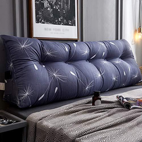 SZDL IKEA Cabeceros Cama Cojines Triángulo Cabecero Almohadas Suaves Cojín Tatami Carpeta Cama Extraíble Y Lavable Paquete Gran Sofá (Color : F, Size : 100cm)