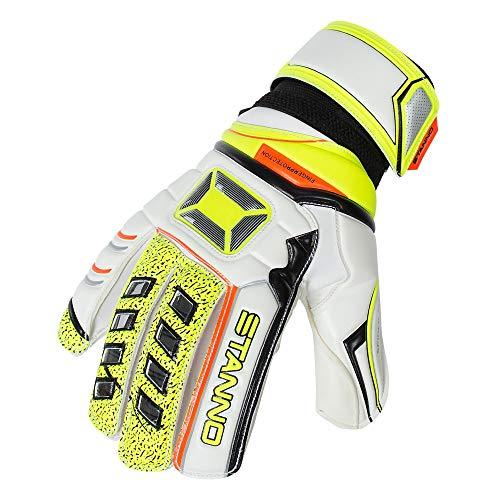 Stanno Fingerprotection Junior+ Torwarthandschuhe Kinder weiß-gelb-schwarz, 3