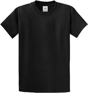 Star and Stripes Plain Black T Shirt 100% Rich Soft Organic Cotton Black T Shirt