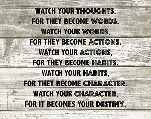 11 X 14 Watch Your Thoughts Destiny Motivational Buddha Quote Photo Art Print