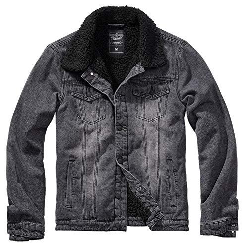 Brandit Sherpa Demin Jacket Black-Black Gr. 3XL