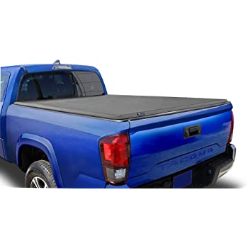 Amazon Com Tyger Auto T3 Soft Tri Fold Truck Bed Tonneau Cover For 2005 2015 Toyota Tacoma Fleetside 5 Bed Tg Bc3t1030 Black Automotive