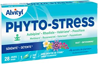Alvityl - Phyto-Stress - 4 extraits de plantes - Sérénité, détente - 28 comprimés 1/j