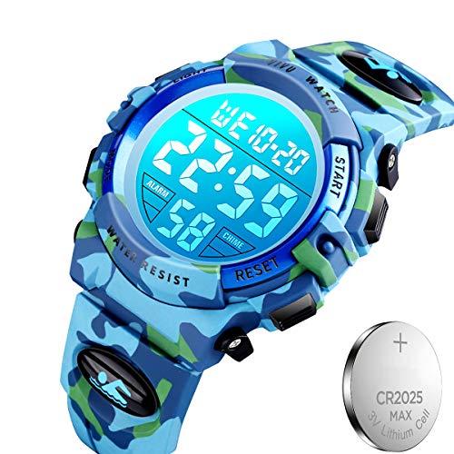キッズ腕時計 子供用腕時計 50メートル防水 LED...