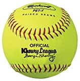 Markwort 10-Inch Pixie Khoury League Softball (Dozen), Yellow