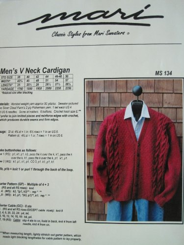 V-neck Sweaters Knitting Pattern for Men