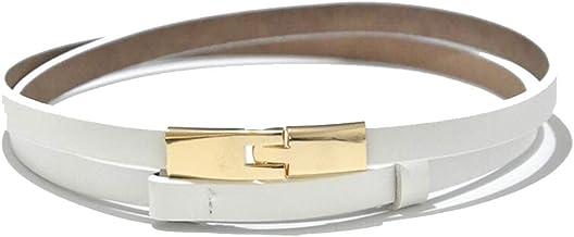 Fashion Belt Retro fashion belt Women's new leather thin belt Durable (Color : 03, Size : 80-100cm)