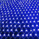 Star LED Net Lights Lamp Redes De Pesca, Luces Decorativas Navideñas Multifuncionales, Luces De Hadas Románticas, Lámpara De Ambiente Elegante 10 X 8m Blue