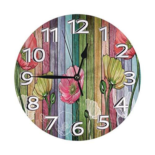 Oh Sweety - Reloj de pared con diseño retro, impermeable, con números romanos y números romanos